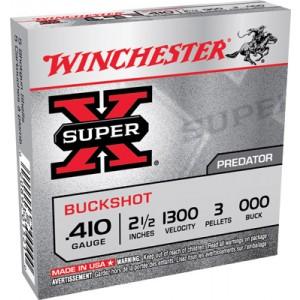 "Winchester Super-X .410 Gauge (2.5"") 000 Buck Shot Lead (5-Rounds) - XB41000"