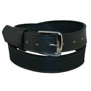 Boston Leather Off Duty Garrison Belt in Black Basket Weave - 42