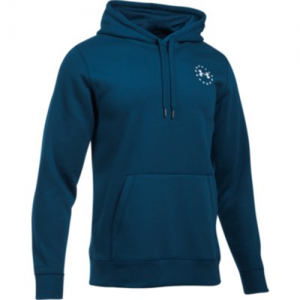 Under Armour Freedom Flag Rival Men's Pullover Hoodie in Blackout Navy - Small