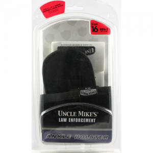 "Uncle Mike's Ankle Left-Hand Ankle Holster for Medium/Large Autos in Black Nylon (3.25"" - 3.75"") - 88162"