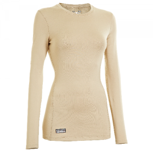 Under Armour Coldgear Infrared Women's Long Sleeve Compression Tee in Desert Sand - X-Large