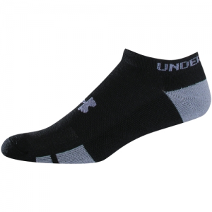 UA Resistor III No Show Color: Black Size: 7-9(Youth Large)