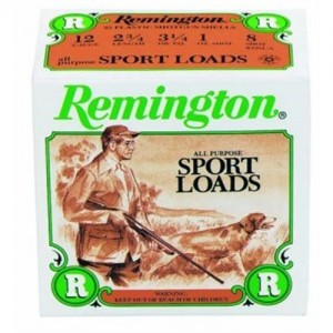"""Remington Sport Loads .12 Gauge (2.75"""") 8 Shot Lead (25-Rounds) - R12SL8"""