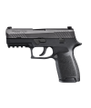 "Sig Sauer P320 Compact MA Compliant .45 ACP 9+1 3.9"" Pistol in Black Nitron (SIGLITE Night Sights) - 320C45BSSMSM"
