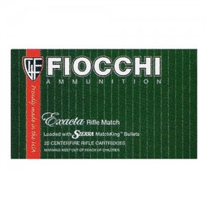Fiocchi Ammunition Exacta Match Rifle .223 Remington/5.56 NATO Sierra MatchKing BTHP, 69 Grain (20 Rounds) - 223MKC