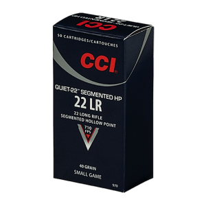 CCI Speer Quiet-22 .22 Long Rifle Segmented Hollow Point, 40 Grain (50 Rounds) - 970