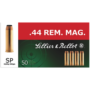 Magtech Ammunition .44 Remington Magnum Soft Point, 240 Grain (50 Rounds) - SB44A