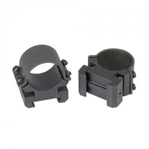 "Weaver 1"" High Matte Black Scope Rings w/Adjusters 49144"