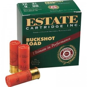 "Estate Cartridge .12 Gauge (2.75"") 00 Buck Shot Lead (25-Rounds) - I127N00"