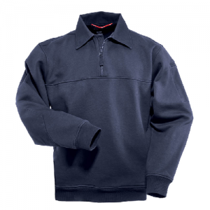 5.11 Tactical Job Shirt Men's 1/4 Zip Jacket in Navy - Large