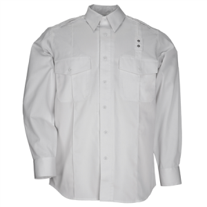 5.11 Tactical PDU Class A Men's Long Sleeve Uniform Shirt in White - X-Large