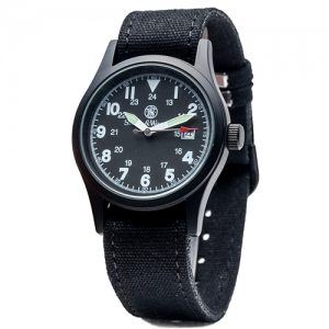 Military Watch - 3 Changeable Straps, Gift Set, Black Face