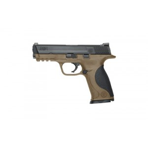 """Smith & Wesson M&P Full Size 9mm 17+1 4.25"""" Pistol in Fired Case/Black/Flat Dark Earth - 10188"""