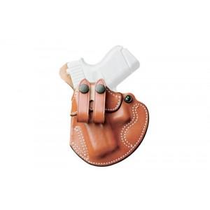 Desantis Gunhide 28 Cozy Right-Hand Belt Holster for Glock 17, 19, 22, 23 in Tan Leather -