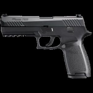 "Sig Sauer P320 Full Size 9mm 17+1 4.7"" Pistol in Black Nitron (SIGLITE Night Sights) - 320F9BSS"