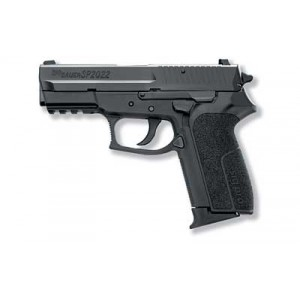 "Sig Sauer SP2022 Full Size CA Compliant 9mm 10+1 3.9"" Pistol in Black Nitron (SIGLITE Night Sights) - SP20229BSSCA"