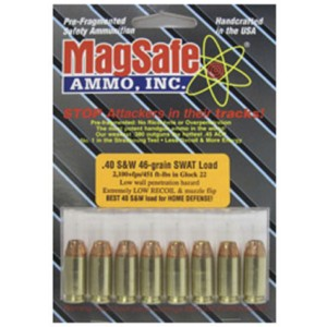 MagSafe Ammo SWAT .40 S&W Pre-Fragmented Bullet, 46 Grain (10 Rounds) - 40W