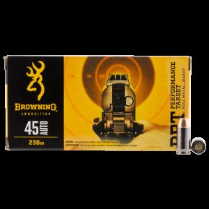 Browning BPT Performance .45 ACP Full Metal Jacket, 230 Grain (50 Rounds) - B191800451