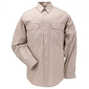 5.11 Tactical Taclite TDU Men's Long Sleeve Uniform Shirt in TDU Khaki - 3X-Large