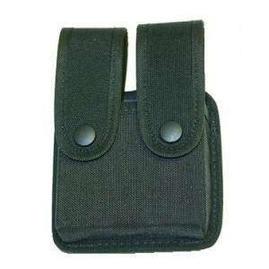 Uncle Mike's Double Magazine Pouch Magazine Pouch in Black Textured Nylon - 8836