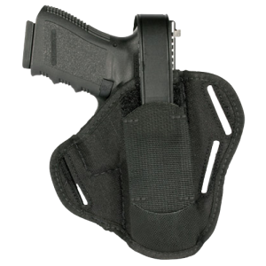 "Blackhawk Pancake  Right-Hand Pancake  Holster for Browning Hi-Power in Black (4.7"") - 40PC07BK"