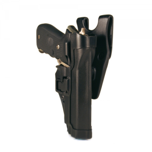 "Blackhawk Serpa Level 2 Left-Hand Belt Holster for Beretta 92 in Matte Black (5"") - 44H004BK-L"