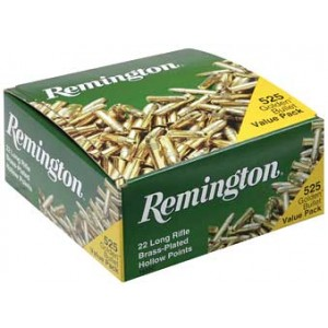 Remington Rimfire .22 Long Rifle Hollow Point, 36 Grain (525 Rounds) - 21250