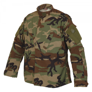 TruSpec - TRU Shirt Color: Woodland Length: Long Size: Medium Fabric: 50/50 Cordura Nylon Cotton Rip Stop Material