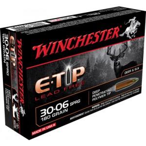Winchester Supreme .30-06 Springfield E-Tip Lead-Free, 180 Grain (20 Rounds) - S3006ET