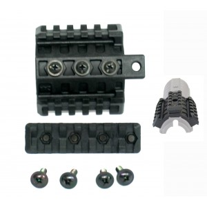 """CAA Command Arms Three Rail System For M16/AR15 Two 2 1/2"""" Side & One 3"""" Middle Rail TRM3"""