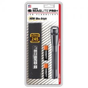 """MagLite Mini Mag Flashlight in Gray (6.607"""") - SP-P09H"""