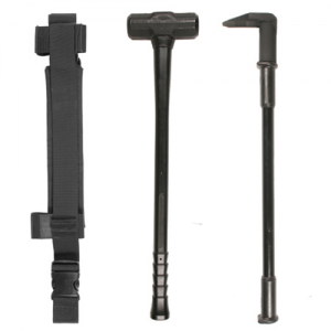 Dynamic Duo DE-TS/TB/DDQ  Dynamic Duo including one each: DE-TS/-TB/-DDQ Black DE-TS    THUNDERSLEDGE Sure-Grip handle system is electrically non-conductive to 100,000 volts AC Handles will not absorb glass shards and are self-extinguishing Drop forged, h