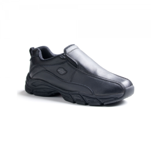 Dickies - Men's Slip Resisting Athletic Slip-On Work Shoes Color: Black Size: 12