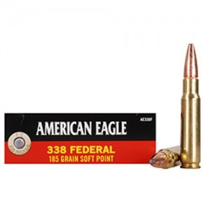 Federal Cartridge American Eagle Target .338 Federal Soft Point, 185 Grain (20 Rounds) - AE338F
