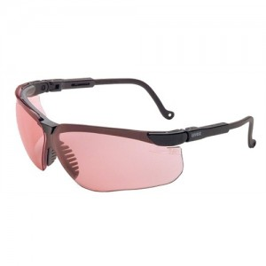 Howard Leight Genesis Safety/Shooting Glasses w/Vermilion Lens & Black Frames R03575