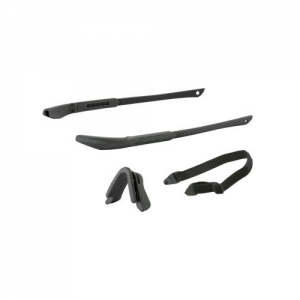 ICE NARO Frame Kit Black - Includes two black temple pieces, black nosepiece, elastic retention strap, & no-fog cloth