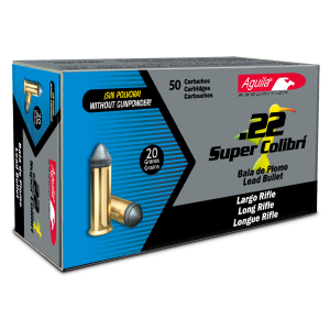 Aguila 1B222339 22 Long Rifle 20 GR Colibri Lead Bullet 5000Cs
