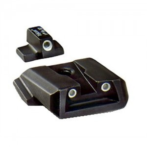 Trijicon Tritium 3 Dot Green Front & Rear Sights For Smith/Wesson Military Police SA37