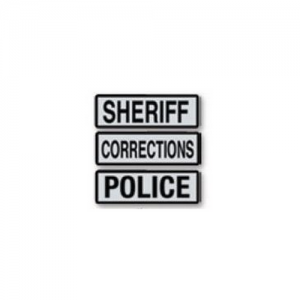 Reflective  Police  Label for Centurion Riot Suit - CPX2500. Hook and Loop Compatible