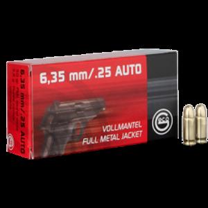 Ruag Ammotec Usa Inc .25 ACP Full Metal Jacket, 49 Grain (50 Rounds) - 2123207