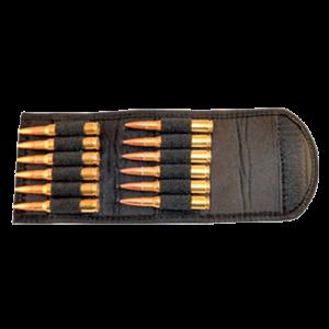 Grovtec Usa Inc Folding Cartridge Holder For Rifle Magazine Pouch in Black Smooth Elastic/Nylon - GTAC89