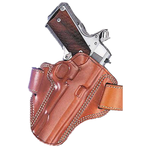 """Galco International Combat Master Right-Hand Belt Holster for 1911 in Tan Leather (5"""") - CM212"""
