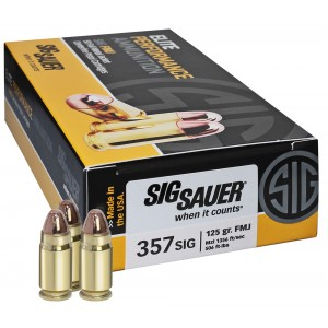 Sig Sauer .357 Sig Sauer Full Metal Jacket, 124 Grain (50 Rounds) - E357B1-50