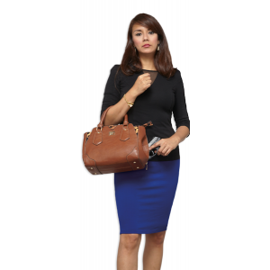Bulldog Case Company Universal Purse Satchel Style Purse in Chestnut Smooth Leather Leather - BDP024