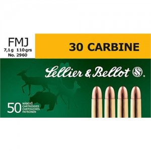 Magtech Ammunition Training .30 Carbine Full Metal Jacket, 110 Grain (50 Rounds) - SB30A