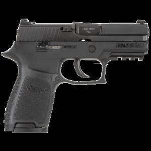 "Sig Sauer P250 Compact .380 ACP 15+1 3.9"" Pistol in Black Nitron (SIGLITE Night Sights) - 250C380BSS"