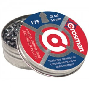 Crosman .22 Caliber Pointed Pellets/175 Pack P022