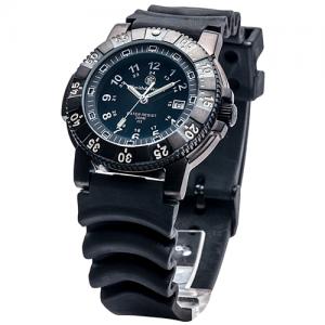 Diver Watch, Tritium, 45 mm, Black with Rubber Strap