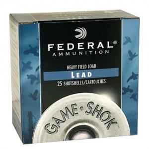 "Federal Cartridge Game-Shok Game Loads .12 Gauge (2.75"") 8 Shot Lead (25-Rounds) - H1218"
