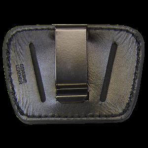 Peace Keeper 036BLK Belt Slide Inside/Outside Pants Small/Medium Frame Auto High Grade Leather Black - 036BLK
